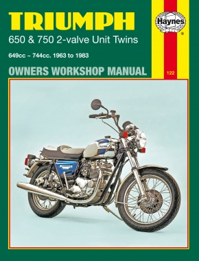 Triumph 650 & 750 2-valve Unit Twins (63 - 83) Haynes Repair Manual