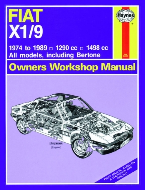 Fiat X1/9 (74 - 89) Haynes Repair Manual