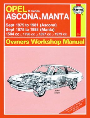 Opel Ascona & Manta (B Series) (Sept 75 - 88) Haynes Repair Manual