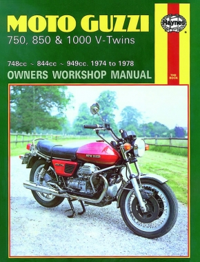 Moto Guzzi 750, 850 & 1000 V-Twins (74 - 78) Haynes Repair Manual