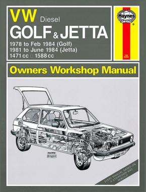 VW Golf & Jetta Mk 1 Diesel (78 - 84) Haynes Repair Manual
