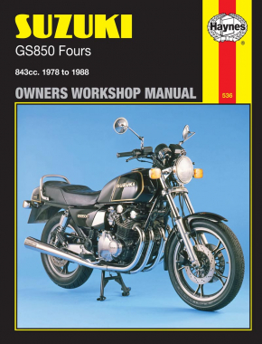 Suzuki GS850 Fours (78 - 88) Haynes Repair Manual