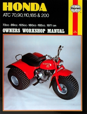 Honda ATC70, 90, 110, 185 & 200 (71 - 85) Haynes Repair Manual