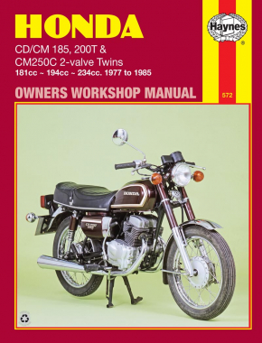 Honda CD/CM185 200T & CM250C 2-valve Twins (77 - 85) Haynes Repair Manual