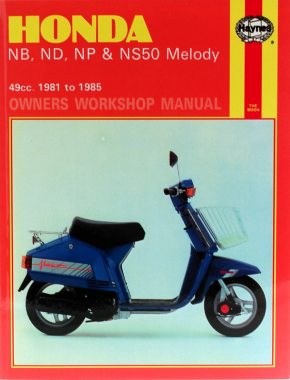 Honda NB, ND, NP & NS50 Melody (81 - 85) Haynes Repair Manual