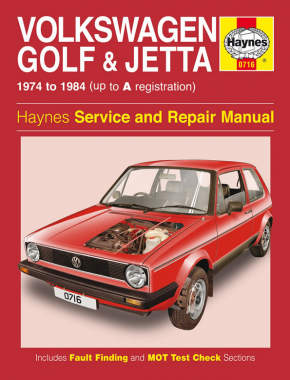 VW Golf & Jetta Mk 1 Petrol 1.1 & 1.3 (74 - 84) Haynes Repair Manual