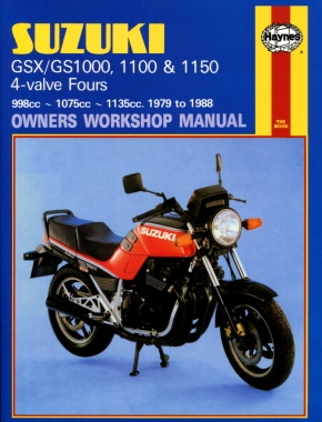 Suzuki GS/GSX1000, 1100 & 1150 4-valve Fours (79 - 88) Haynes Repair Manual