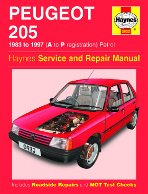 Peugeot 205 Petrol (83 - 97) Haynes Repair Manual