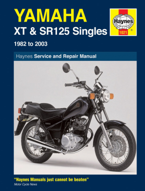 Yamaha XT & SR125 (82 - 03) Haynes Repair Manual