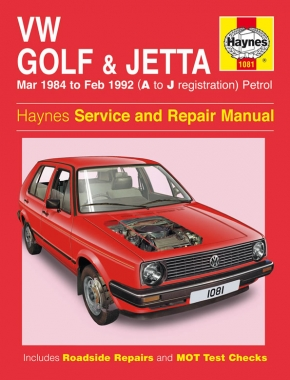 VW Golf & Jetta Mk 2 Petrol (Mar 84 - Feb 92) Haynes Repair Manual