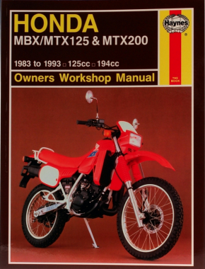 Honda MBX/MTX125 & MTX200 (83 - 93) Haynes Repair Manual