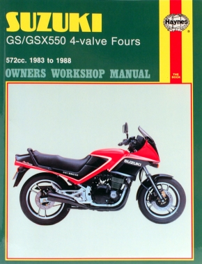 Suzuki GS/GSX550 4-valve Fours (83 - 88) Haynes Repair Manual