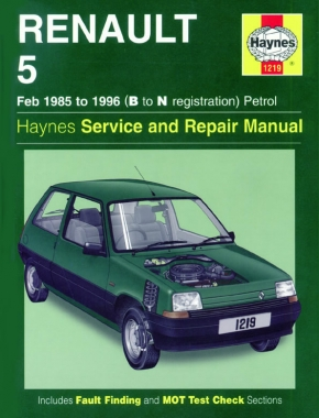 Renault 5 Petrol (Feb 85 - 96) Haynes Repair Manual