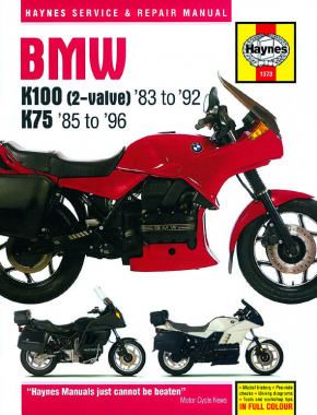 BMW K100 & 75 2-valve Models (83 - 96) Haynes Repair Manual
