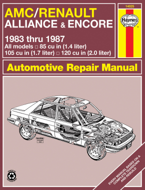 AMC/Renault Alliance & Encore (1983-1987) Haynes Repair Manual (USA)