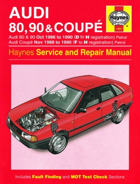 Audi 80, 90 & Coupe Petrol (Oct 86 - 90) Haynes Repair Manual