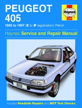 Peugeot 405 Petrol (88 - 97) Haynes Repair Manual
