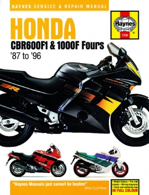 Honda CBR600F1 & 1000F Fours (87 - 96) Haynes Repair Manual