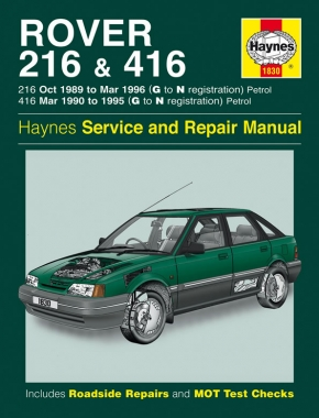 Rover 216 & 416 Petrol (89 - 96) Haynes Repair Manual