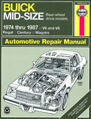 Buick Mid-Size RWD petrol Regal (1974-1987) & Century/Century Wagon (1974-1981) Haynes Repair Manual (USA)