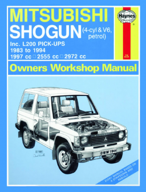 Mitsubishi Shogun & L200 Pick-Ups Petrol (83 - 94) Haynes Repair Manual