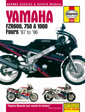 Yamaha FZR600, 750 & 1000 Fours (87 - 96) Haynes Repair Manual
