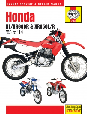 Honda XL/XR600R & XR650L/R (83-14) Haynes Repair Manual