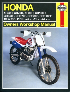 Honda XR50/70/80/100R & CRF50/70/80/100F (85 - 16) Haynes Repair Manual