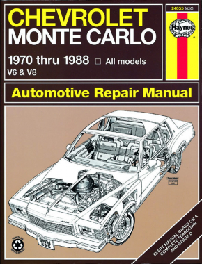 Chevrolet Monte Carlo (1970-1988) petrol Haynes Repair Manual (USA)