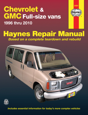Chevrolet Express & GMC Savana full-size petrol vans (1996-2010) Haynes Repair Manual (USA)