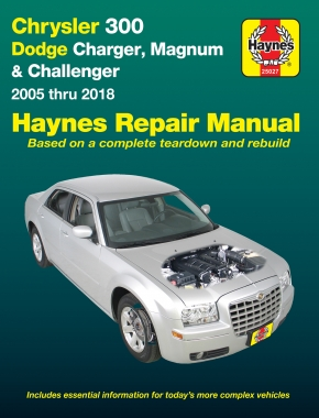 Chrysler 300 (2005-2018), Dodge Charger (2006-2018) & Magnum (2005-2008) Haynes Repair Manual (USA)