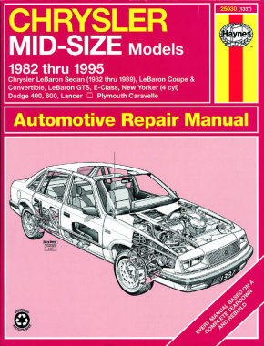 Chrysler Mid-size FWD (1982-1995) Haynes Repair Manual (USA)
