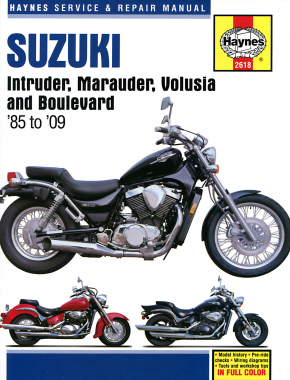Suzuki Intruder, Marauder, Volusia & Boulevard covering VS700, VS750 & VS800 Intruder (1985-2004), VZ 800 Marauder (1997-2004), VL800 Volusia (2001-2004) & C50/M50/S50 Boulevard (2005-2009) Haynes Repair Manual