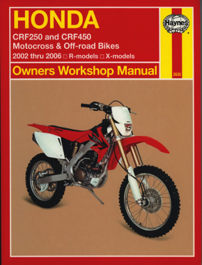 Honda CRF250 & CRF450 (02 - 06) Haynes Repair Manual