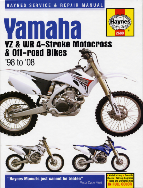 Yamaha YZ & WR 4-stroke Motocross Bikes (98 - 08) Haynes Repair Manual