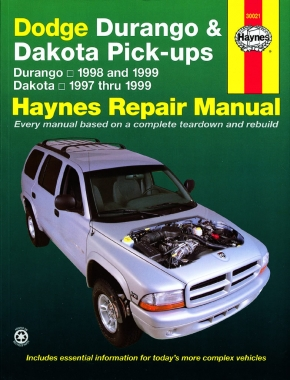 Dodge Durango (1998 & 1999) & Dakota (1997-1999) Haynes Repair Manual (USA)