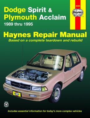 Dodge Spirit & Plymouth Acclaim (1989-1995) Haynes Repair Manual (USA)