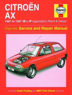 Citroen AX Petrol & Diesel (87 - 97) Haynes Repair Manual