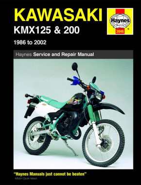 Kawasaki KMX125 & 200 (86 - 02) Haynes Repair Manual