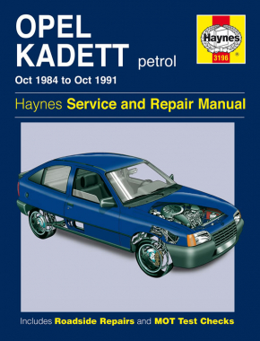 Opel Kadett Petrol (Oct 84 - Oct 91) Haynes Repair Manual