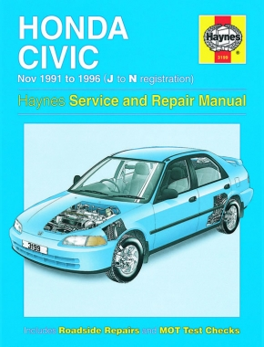 Honda Civic (Nov 91 - 96) Haynes Repair Manual