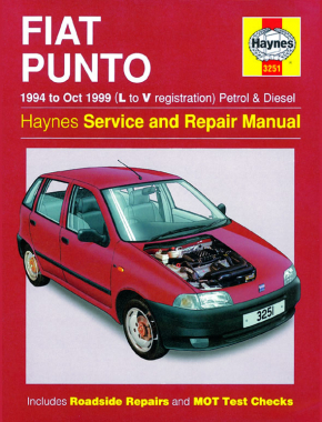 Fiat Punto Petrol & Diesel (94 - Oct 99) Haynes Repair Manual