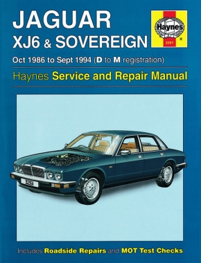 Jaguar XJ6 & Sovereign (Oct 86 - Sept 94) Haynes Repair Manual