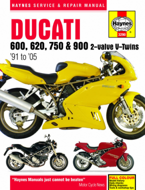 Ducati 600, 620, 750 & 900 2-valve V-Twins (91 - 05) Haynes Repair Manual