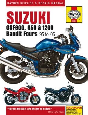 Suzuki GSF600, 650 & 1200 Bandit Fours (95 - 06) Haynes Repair Manual