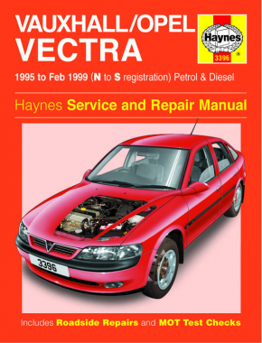 Vauxhall/Opel Vectra Petrol & Diesel (95 - Feb 99) Haynes Repair Manual