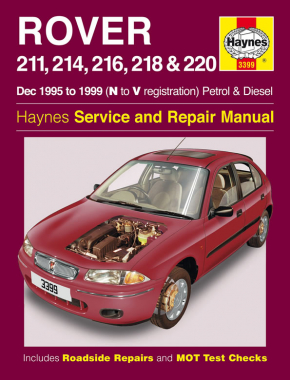 Rover 211, 214, 216, 218 & 220 Petrol & Diesel (Dec 95 - 99) Haynes Repair Manual