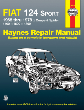 Fiat 124 Sport Coupe & Spider (1968-1978) Haynes Repair Manual (USA)