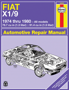 Fiat X1/9 (1974-1980) Haynes Repair Manual (USA)