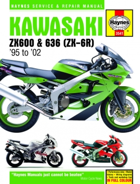Kawasaki ZX-6R Ninja Fours (95 - 02) Haynes Repair Manual